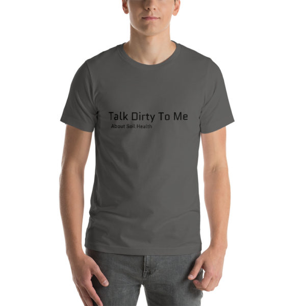 talk dirty to me tee gray